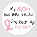 Breast Cancer BIG MUSCLES 1.1 Mom Sticker