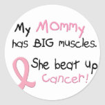 Breast Cancer BIG MUSCLES 1.1 Mommy Sticker