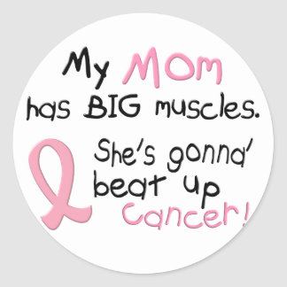 Breast Cancer BIG MUSCLES 1.2 Mom Classic Round Sticker