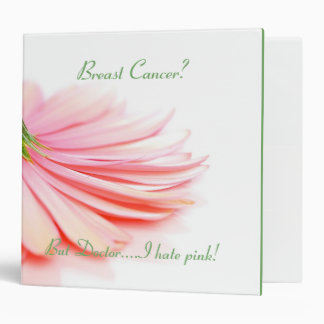 Breast Cancer Binder Pink Gerbera Daisy