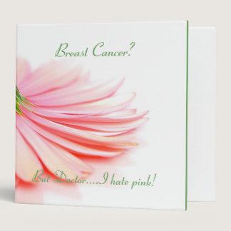 Breast Cancer Binder Pink Gerbera Daisy