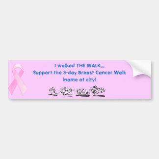 breast cancer car bumper sticker