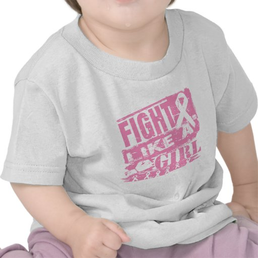 Breast Cancer BurnOut Fight Like a Girl Tee Shirts