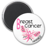 Breast Cancer BUTTERFLY 3.1 Magnets