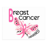 Breast Cancer BUTTERFLY 3.1 Post Card