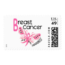 Breast Cancer BUTTERFLY 3.1 Postage Stamp