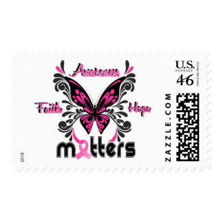 Breast Cancer Butterfly 7 Postage