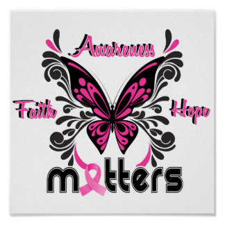 Breast Cancer Butterfly 7 Poster