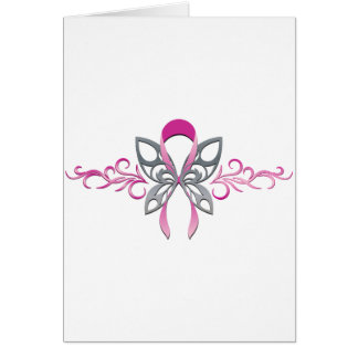 Breast Cancer Butterfly Card