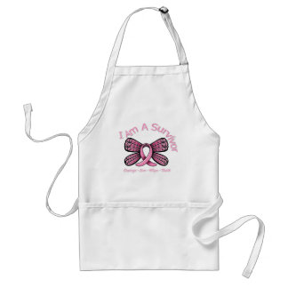 Breast Cancer Butterfly I Am A Survivor Adult Apron