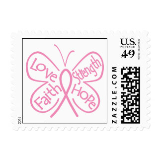 Breast Cancer Butterfly Inspiring Words Postage Stamp