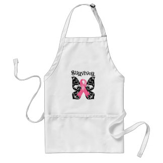 Breast Cancer Butterfly Survivor Aprons