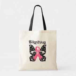 Breast Cancer Butterfly Survivor Bag