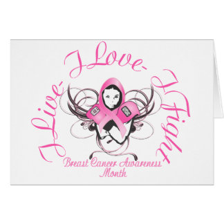 Breast Cancer buttons Card