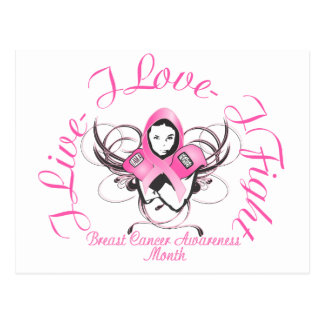 Breast Cancer buttons Postcard