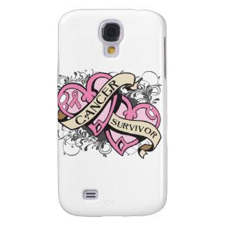 Breast Cancer Cancer Survivor Dual Hearts Samsung S4 Case
