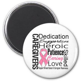 Breast Cancer Caregivers Collage 2 Inch Round Magnet