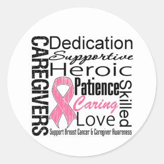 Breast Cancer Caregivers Collage Sticker