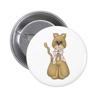 breast cancer cat buttons