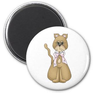 breast cancer cat fridge magnets