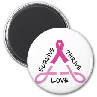 Breast Cancer Celtic Triangle - Survive,Thrive,Lov Magnet