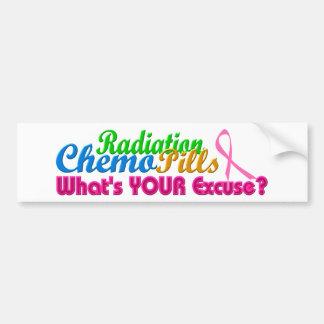 Breast Cancer Chemo Excuse Design Bumper Sticker