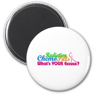 Breast Cancer Chemo Excuse Design 2 Inch Round Magnet