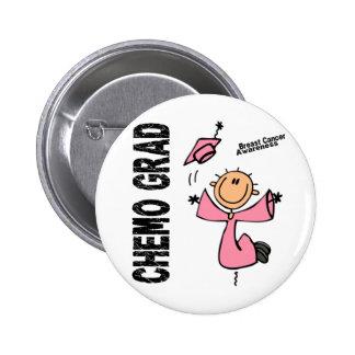 Breast Cancer CHEMO GRAD 1 2 Inch Round Button