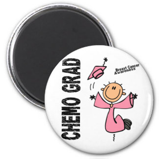 Breast Cancer CHEMO GRAD 1 Refrigerator Magnets