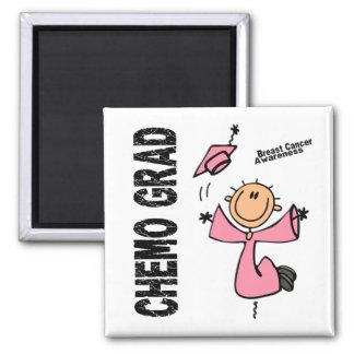 Breast Cancer CHEMO GRAD 1 2 Inch Square Magnet