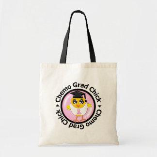 Breast Cancer Chemo Grad Chick Budget Tote Bag