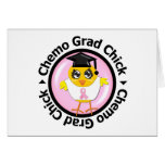 Breast Cancer Chemo Grad Chick Greeting Cards