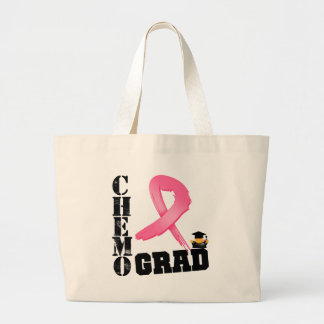 Breast Cancer Chemo Grad Large Tote Bag