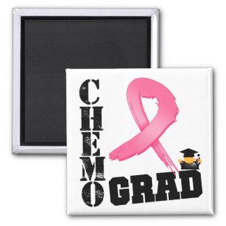 Breast Cancer Chemo Grad 2 Inch Square Magnet