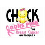 Breast Cancer Chick Gone Pink 2 Postcard