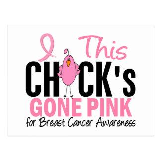 BREAST CANCER Chick Gone Pink Postcard