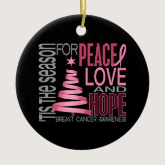 Breast Cancer Christmas 1 Ornaments