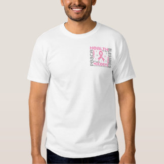 Breast Cancer Christmas 4 Holiday Snowflakes T Shirt