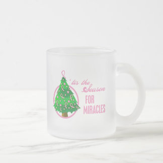 Breast Cancer Christmas Miracles Coffee Mugs