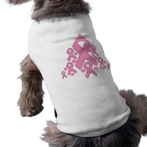 Breast  Cancer Christmas Ribbon Tree Dog Shirt