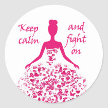 breast cancer classic round sticker
