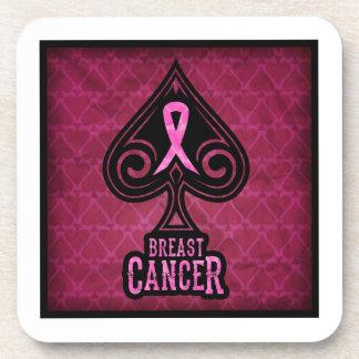Breast Cancer - Coaster Set - Spades Edition