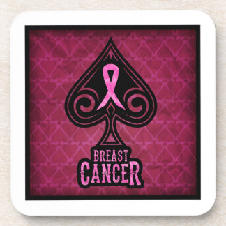 Breast Cancer - Coaster Set - Spades Edition