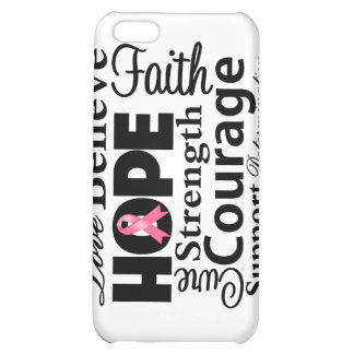 Breast Cancer Collage of Hope Cover For iPhone 5C