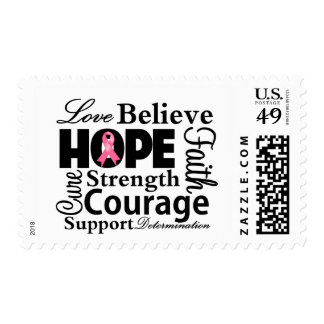 Breast Cancer Collage of Hope Stamps