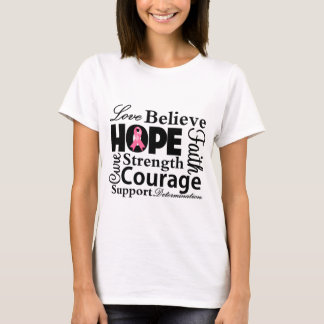 Breast Cancer Collage of Hope T-Shirt