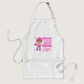 Breast Cancer Combat Girl 1 Adult Apron