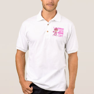 Breast Cancer Combat Girl 1 Polo Shirt
