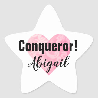 Breast Cancer Conqueror Sticker Star, Customizable