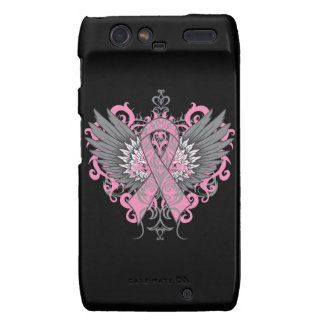 Breast Cancer Cool Wings Droid RAZR Covers